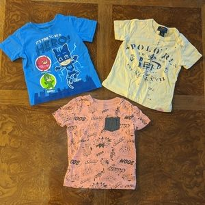 Lot of 3 Boys' Play T-shirts 2T
